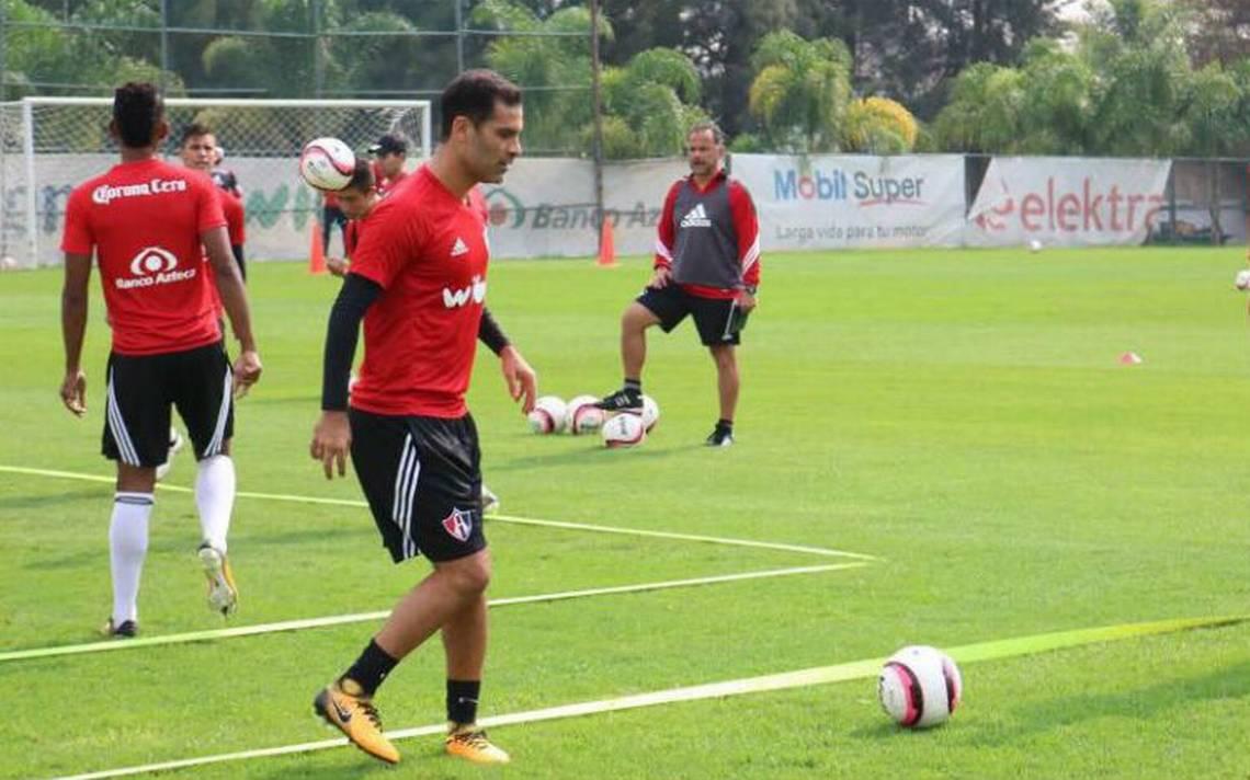 Rafa Márquez regresa a los entrenamientos del Atlas