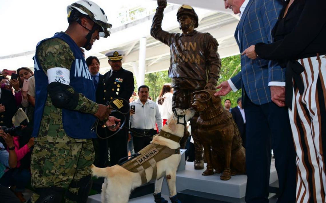 El heroísmo perruno de Frida queda inmortalizado en una estatua