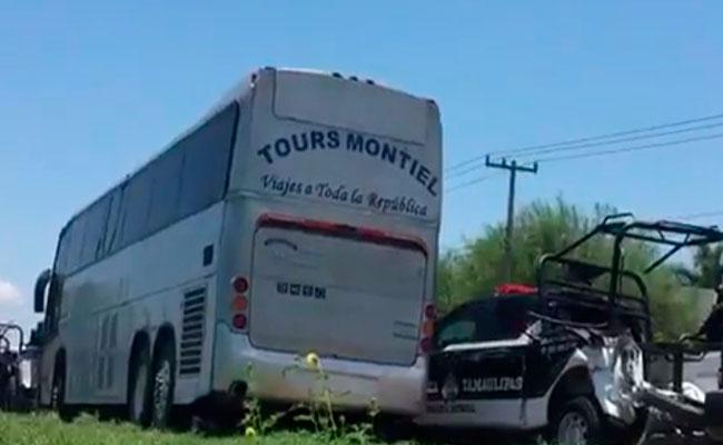 Choca autobús que trasladaba a reos de penal de Ciudad Victoria