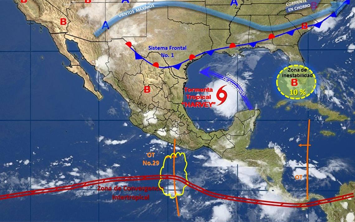 Prevén tormentas de fuertes a intensas en 24 estados
