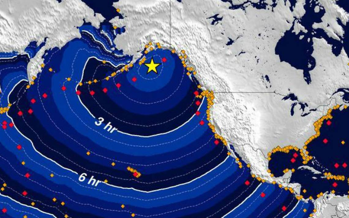 Potente sismo ocurre frente a costas de Alaska