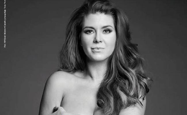 Alicia Machado al desnudo; todo por una buena causa