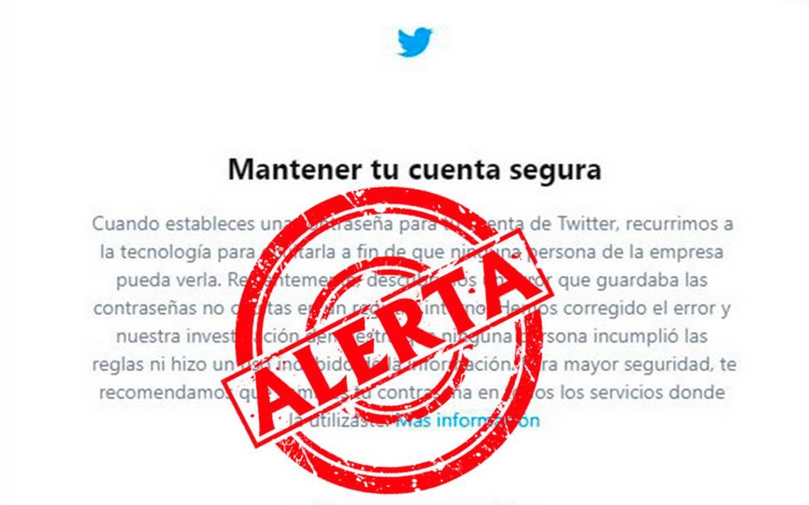 A?Alerta! Twitter pide a usuarios cambiar contraseA�as tras falla que las expuso