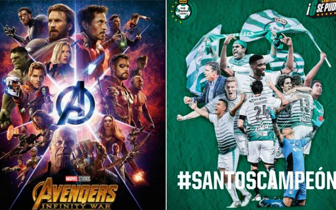 ¡Se cumple la profecía! En cada estreno de Avengers, Santos es campeón