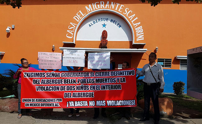 Piden reubicación de albergue en Tapachula
