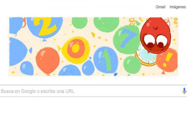 El buscador de Google celebra el Año Nuevo con doodle interactivo