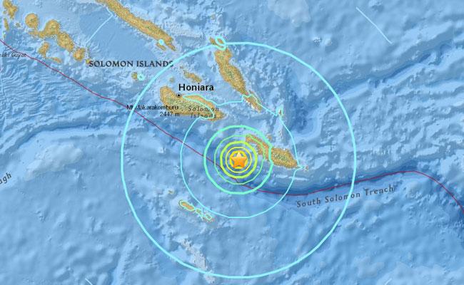 Sismo de 6.9 grados Richter sacude a las Islas Salomón