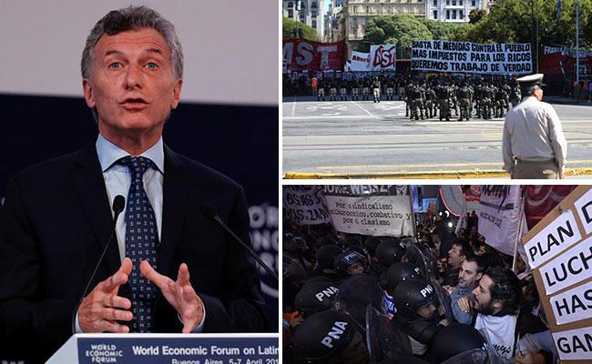 En medio de marchas, realizan Foro Económico Mundial para América Latina en Argentina