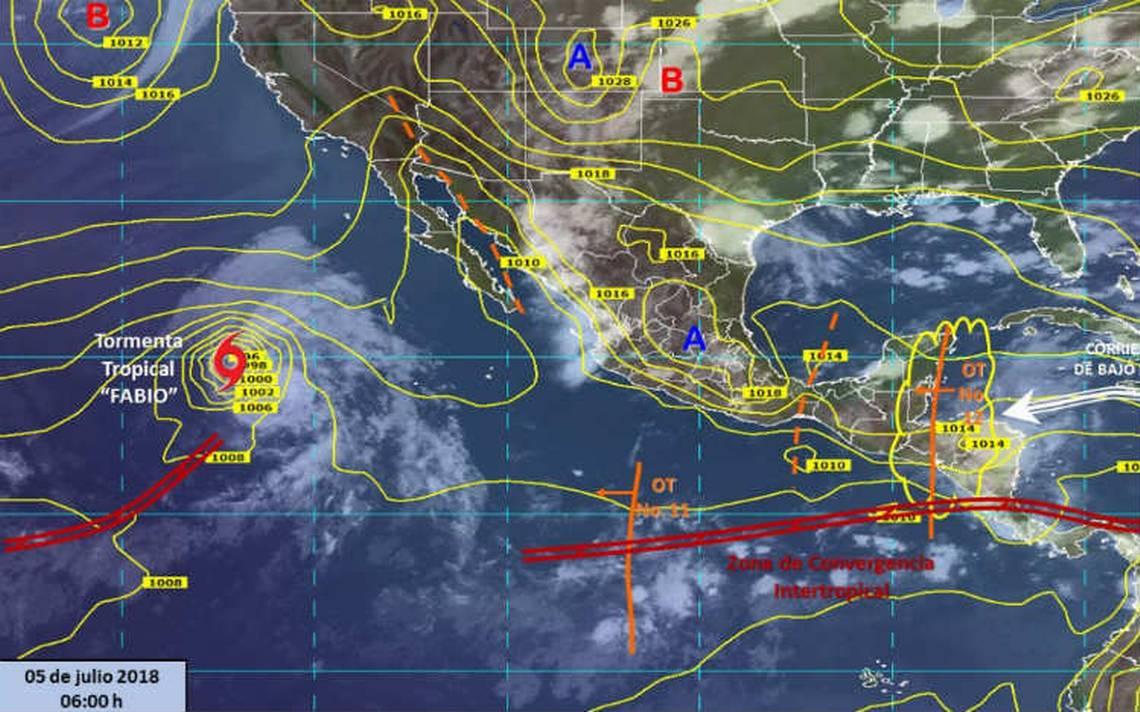 Fabio se debilita a tormenta tropical; se aleja de las costas mexicanas
