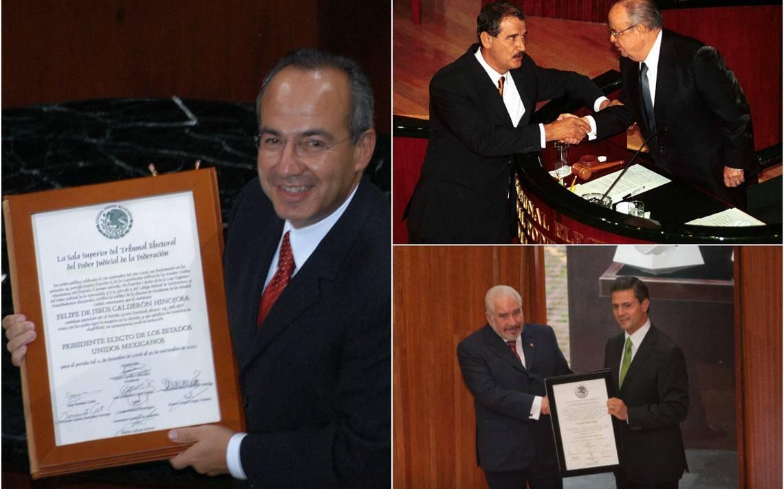 Así recibieron la constancia de mayoría los últimos presidentes de México