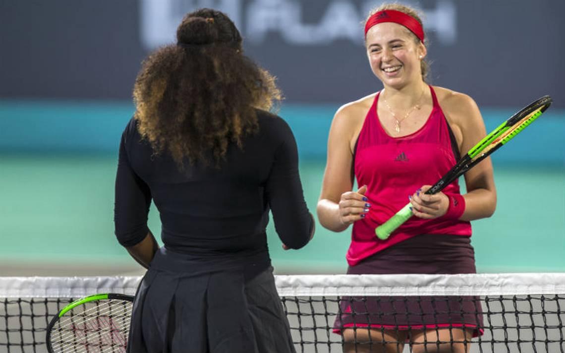 Serena Williams pierde contra Jelena Ostapenko en Abu Dabi
