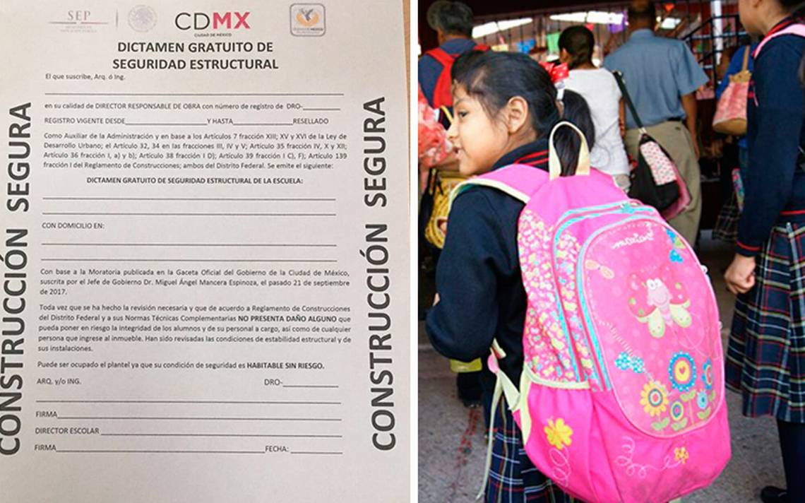 Regresarán a clases solo escuelas con aval y certificado de Protección Civil: SEP