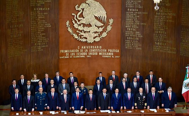 Peña Nieto: Centenario de la Constitución ocurre en tiempos difíciles