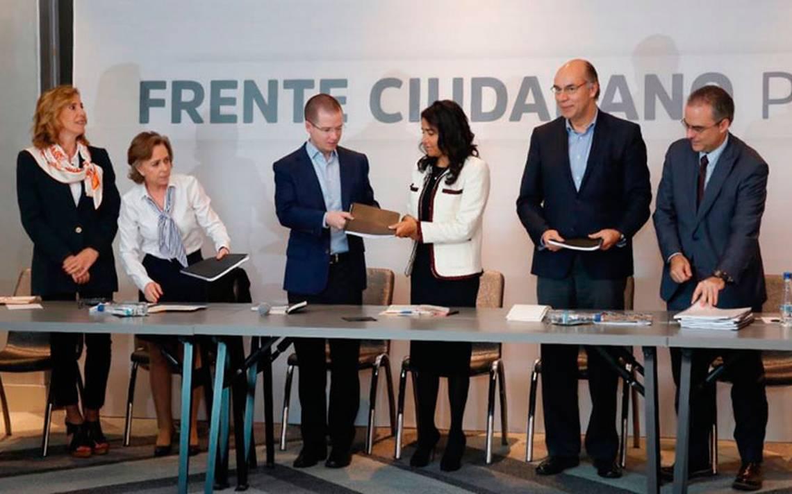 Organizaciones civiles entregan al Frente Ciudadano propuesta sobre Fiscal