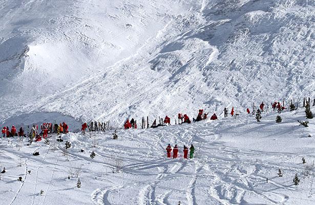Espectacular avalancha enlos Alpes franceses no causa muertos