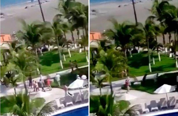 Turistas confunden filmación de El Chema con balacera en Veracruz