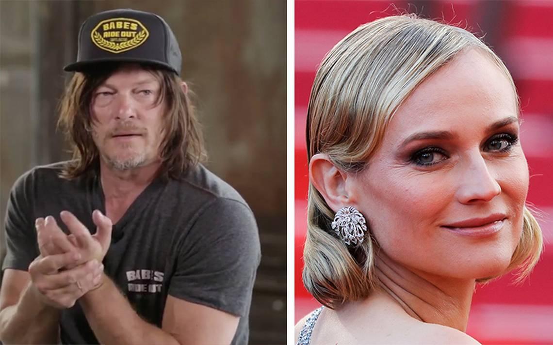 Diane Kruger y Norman Reddus actor de 'The Walking Dead'  serán papás