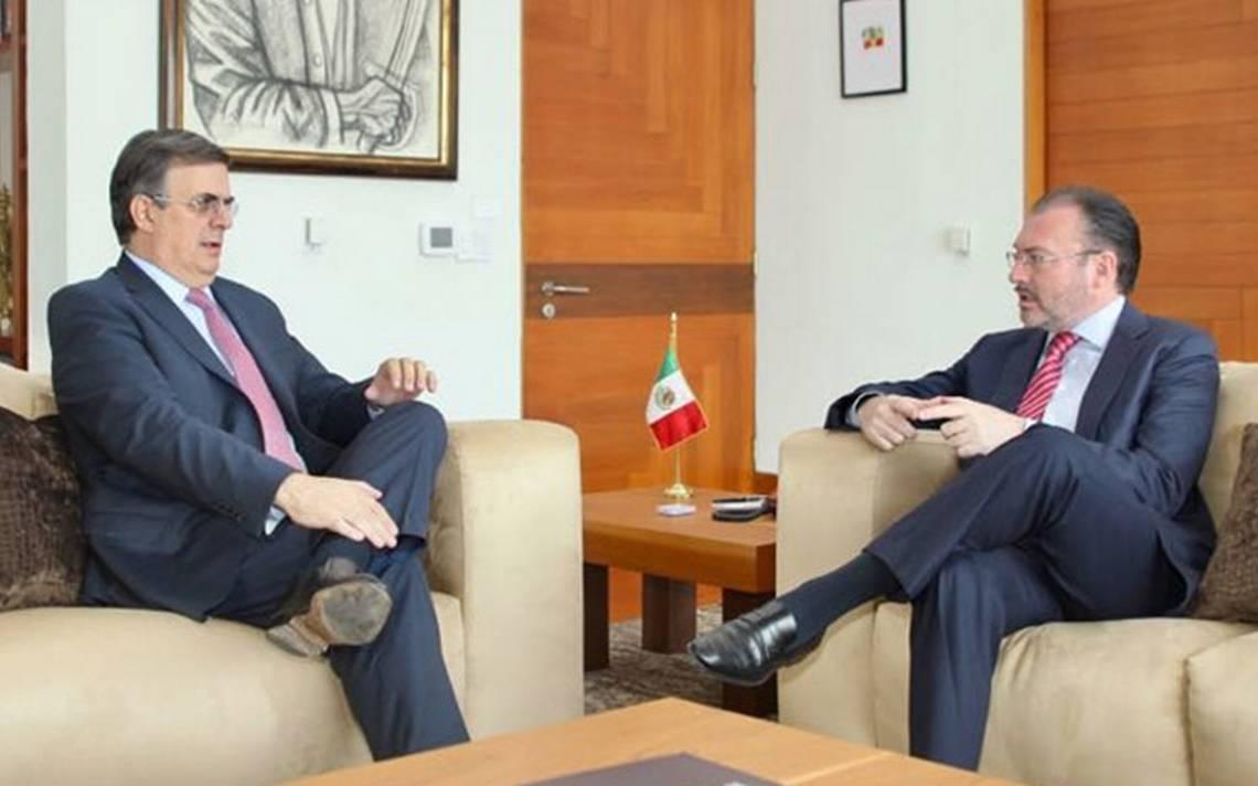 Marcelo Ebrard y Luis Videgaray dialogan sobre condición actual de la SRE