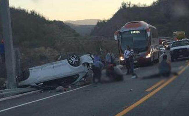Accidente carretero deja dos muertos y dos lesionados