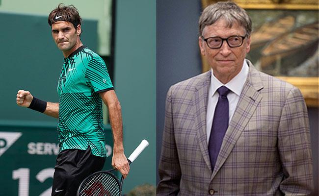 Roger Federer y Bill Gates, la nueva dupla del tenis mundial