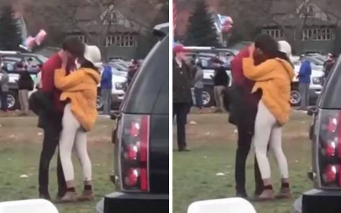 [Video] ¿Enamorada? Se viraliza beso de Malia Obama con joven en Harvard