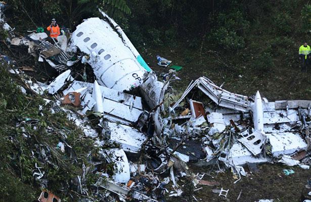 Error humano, causa de accidente de avión del Chapecoense