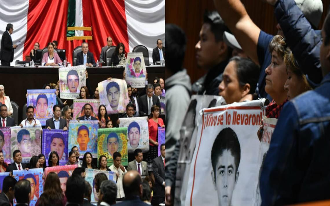 México se está convirtiendo en un país de desaparecidos; diputados recuerdan a los 43