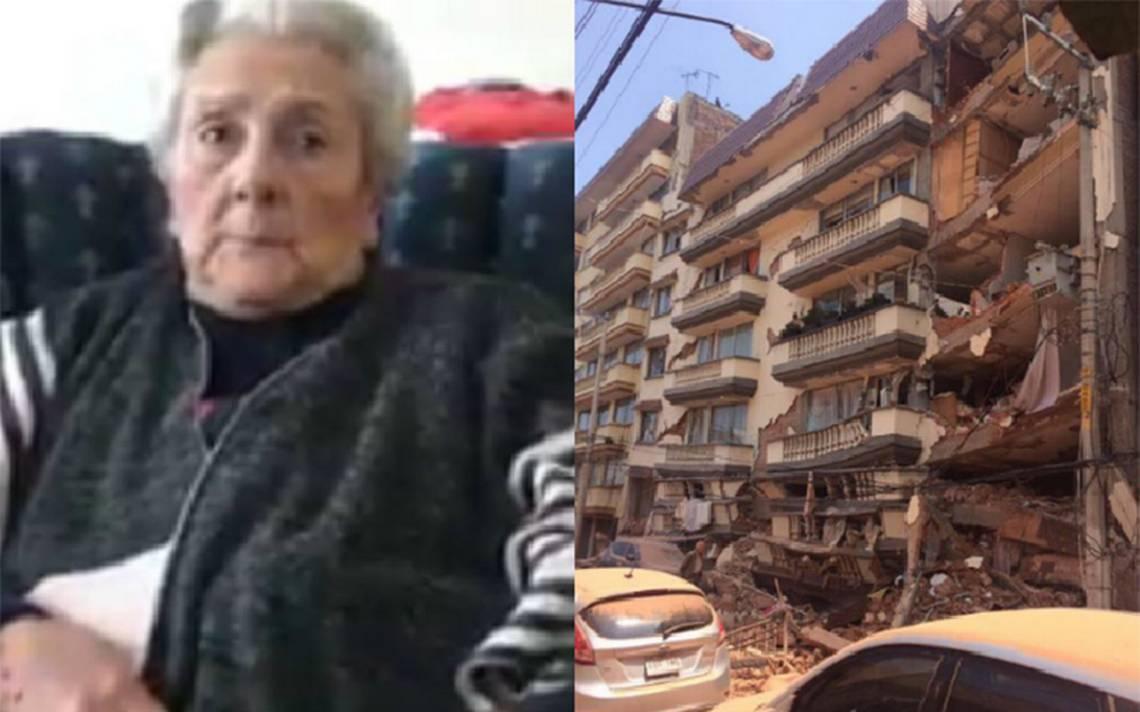 Son unos ángeles: abuelita agradece a rescatistas por salvarla de edificio en Lindavista