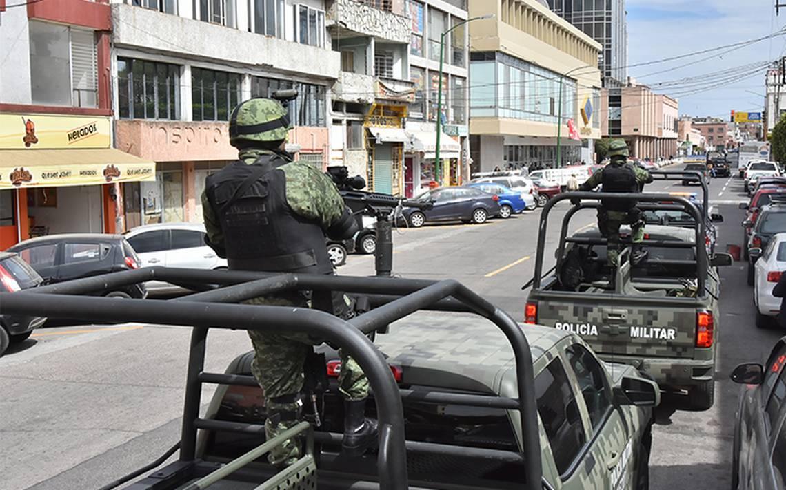 Policía militar refuerza la seguridad en Guanajuato