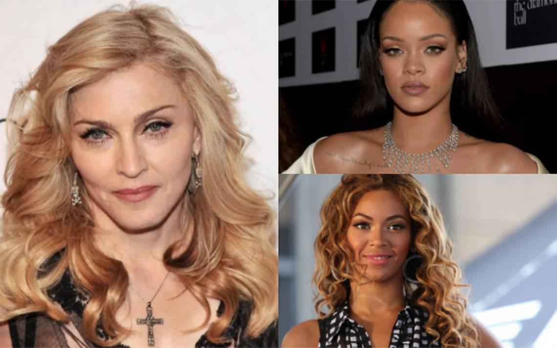 Conoce lo que artistas como Madonna, Rihanna y Beyoncé tiene para el 2018