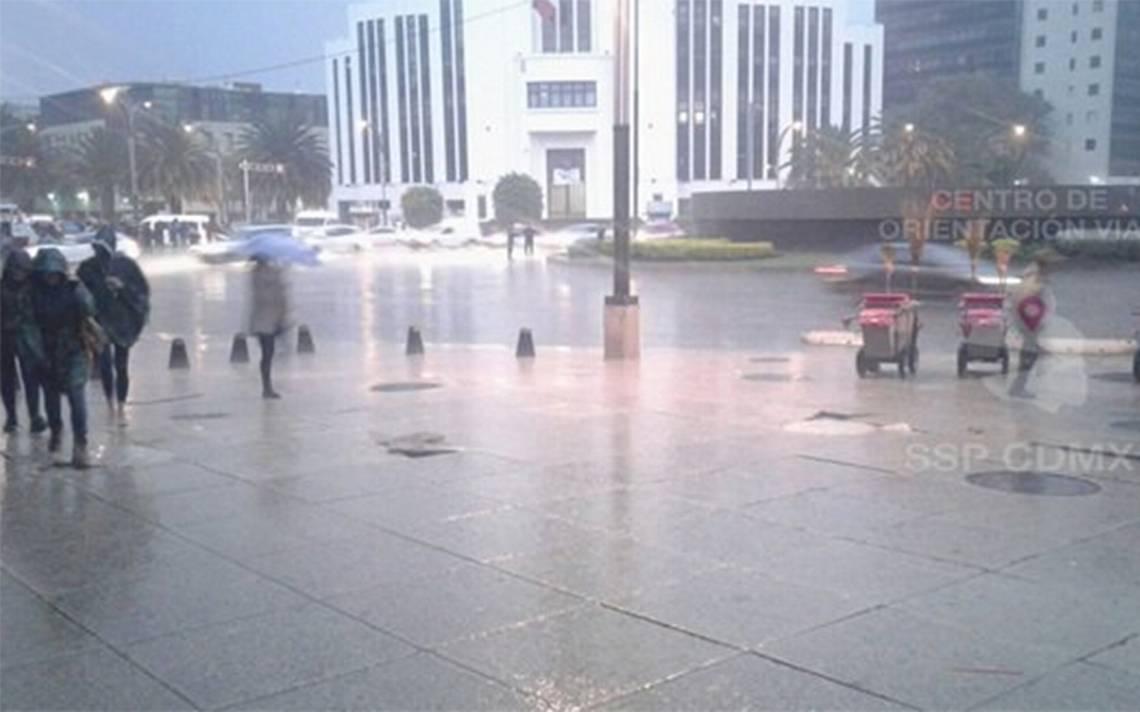 Intensa lluvia activa alerta amarilla en 12 delegaciones de la CDMX