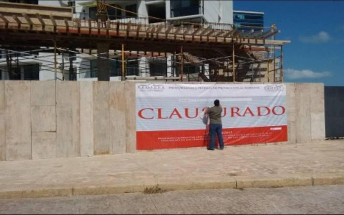 Clausuran proyecto hotelero en Cancún