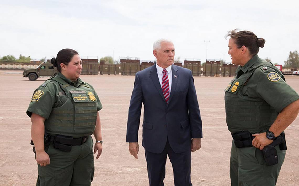 HabrA? muro completo en la frontera con MA�xico, asegura Mike Pence
