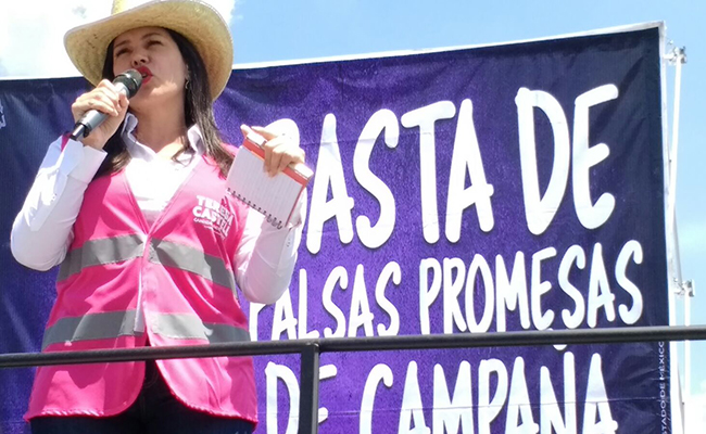 """Visita Teresa Castell La Marquesa; exhorta a comerciantes a votar por """"su independencia"""""""
