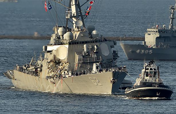 Hallan a marinos desaparecidos tras colisión; estaban dentro del destructor