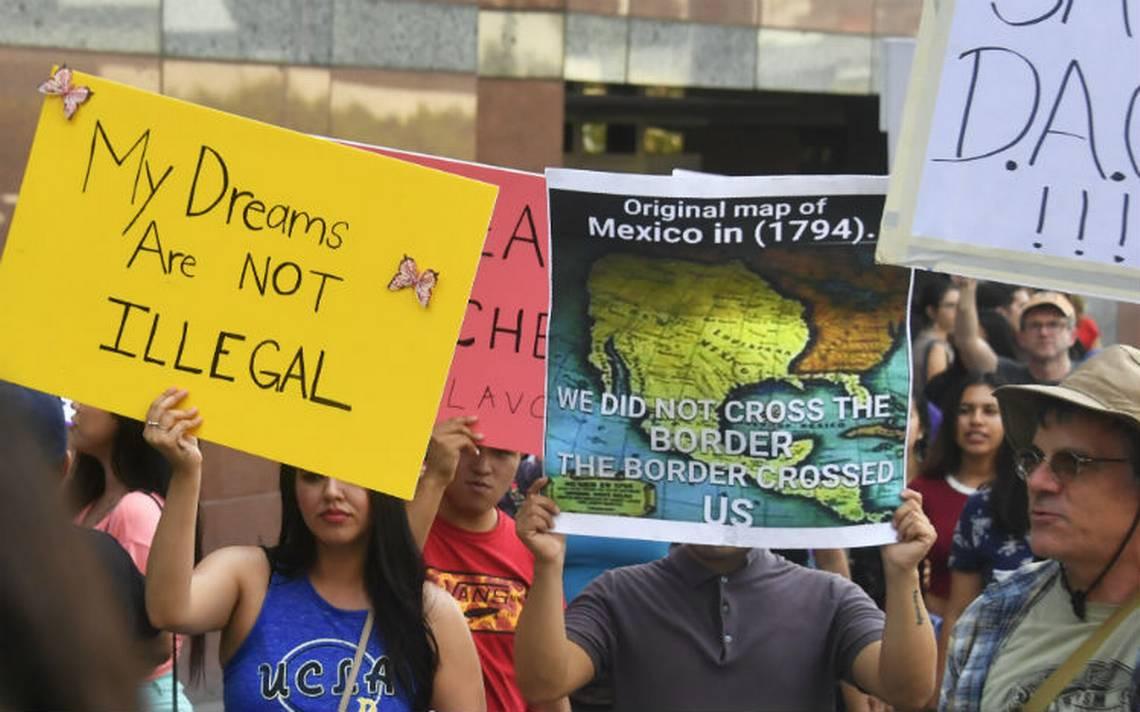 Dreamers se manifiestan contra Trump por eliminar el DACA