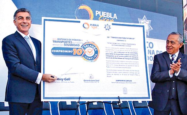 Instala Puebla botones de pánico  en transporte de pasajeros