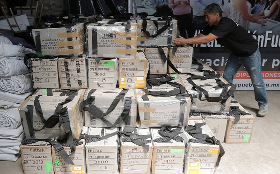 Reconteo de votos de la elección en Puebla alcanza 70%