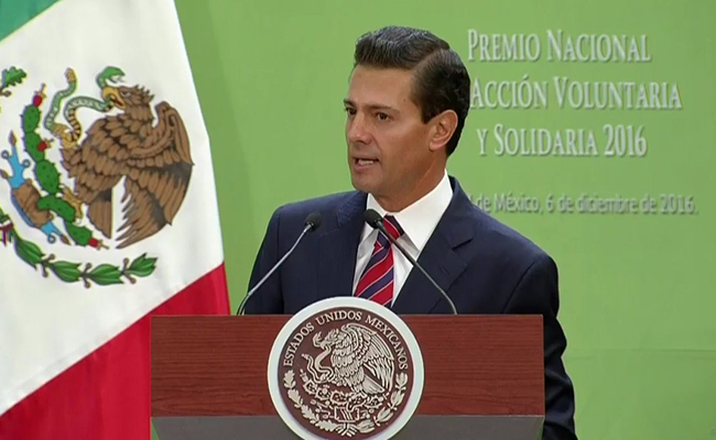 Los voluntarios son ejemplo del México en transformación: Peña Nieto