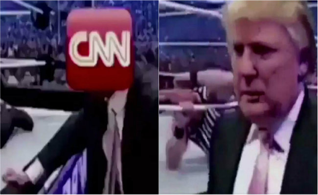 "[Video] Donald Trump le propina una ""paliza"" a CNN en Twitter"