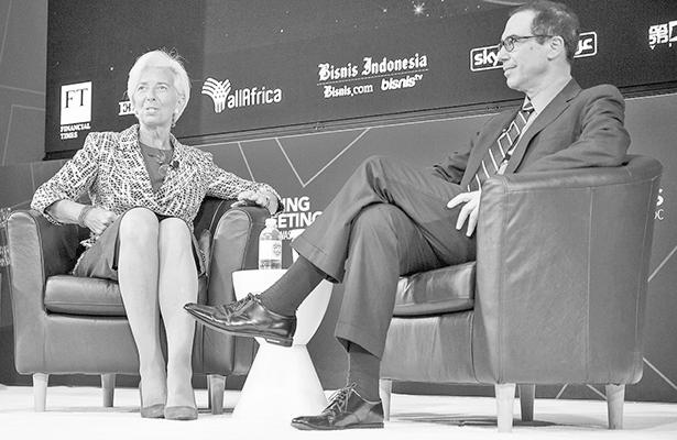 FMI rebaja críticas al proteccionismo ante presencia de Trump