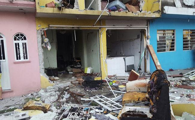 Explosión de tanque de gas deja un heridoen Tabasco