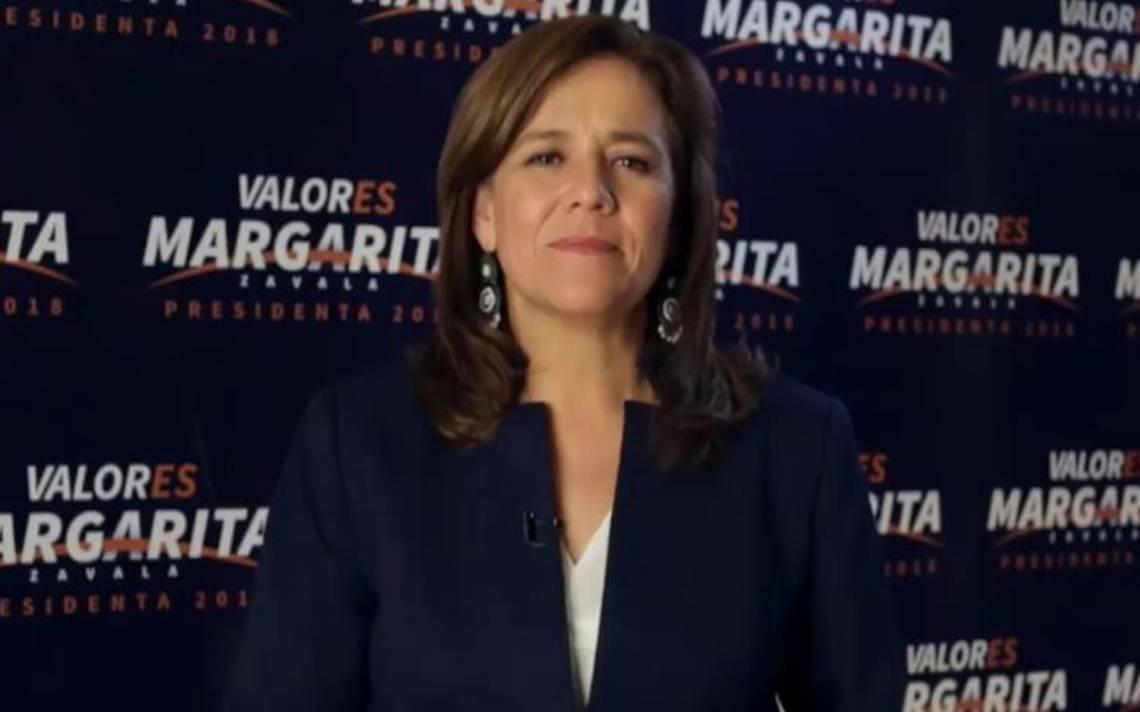 """""""No declino a favor de nadie"""", así se despide Margarita Zavala de elecciones presidenciales"""