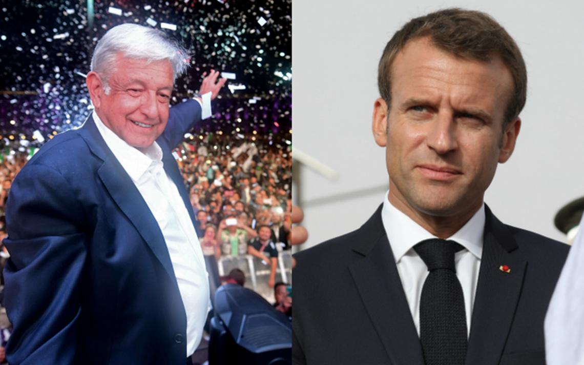 Macron platica por teléfono con AMLO y lo invita a visitar Francia