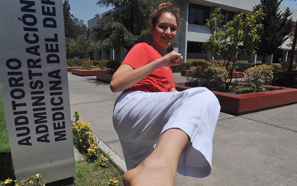 Paulina Armería, ni las lesiones detienen su anhelo de seguir trascendiendo en el taekwondo.