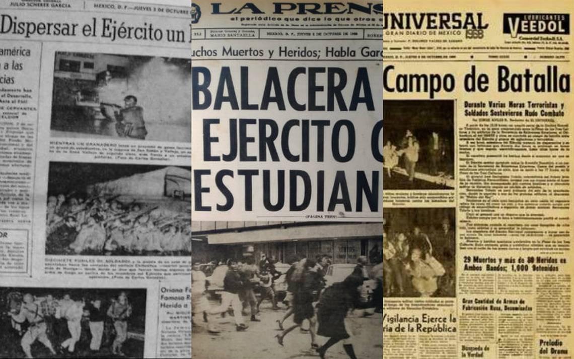 Así mostró la prensa mexicana los hechos ocurridos el 2 de octubre de 1968