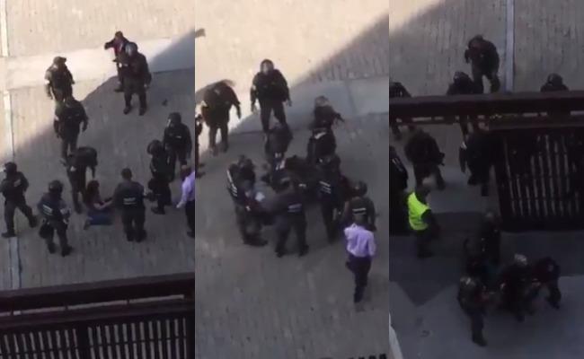 Policía golpea y arrastra a periodista que cubría situación en Venezuela