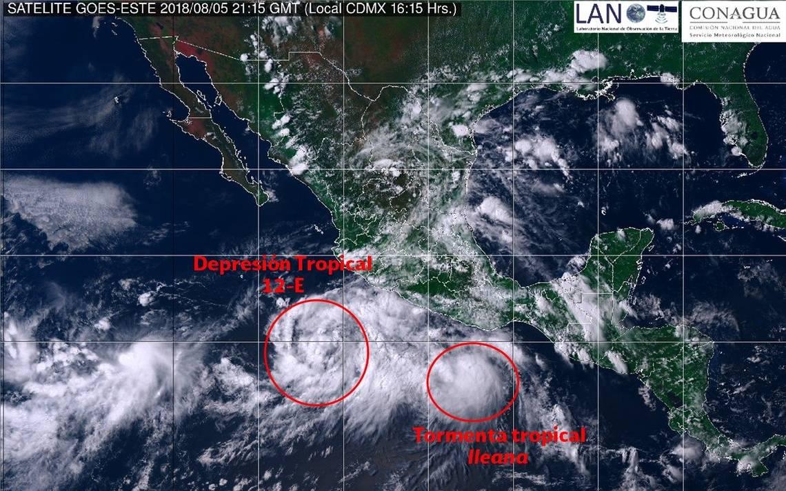 Se forman dos ciclones y amenazan costas del Pacífico mexicano