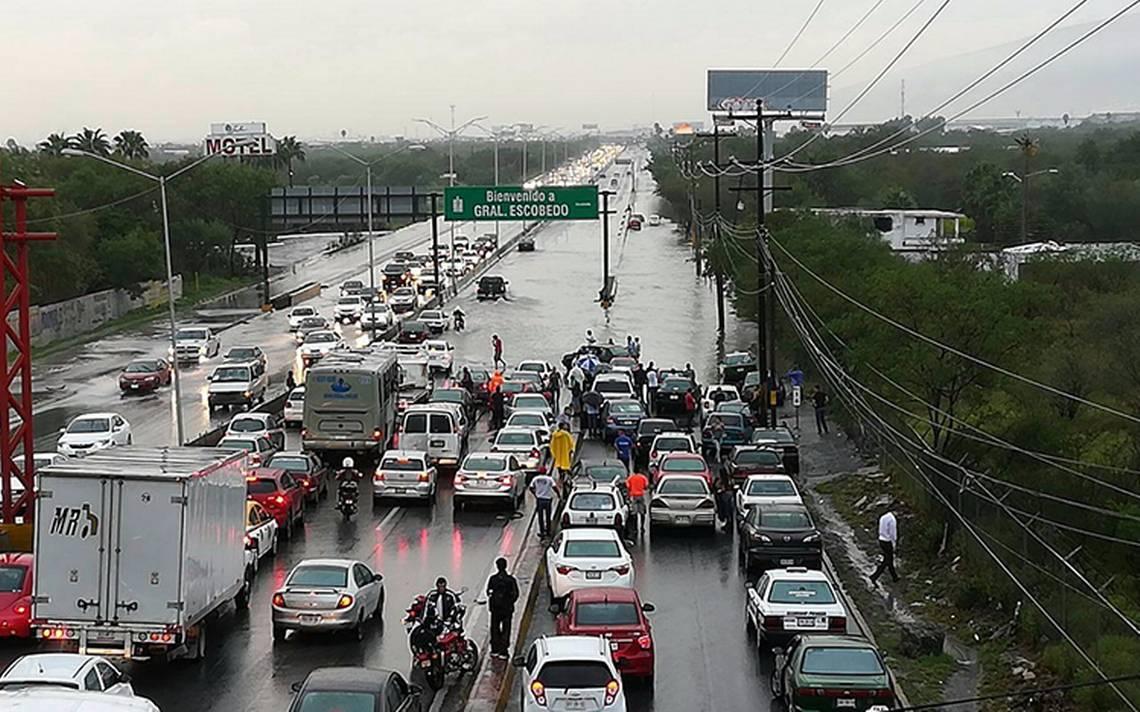 Nuevo León bajo el agua