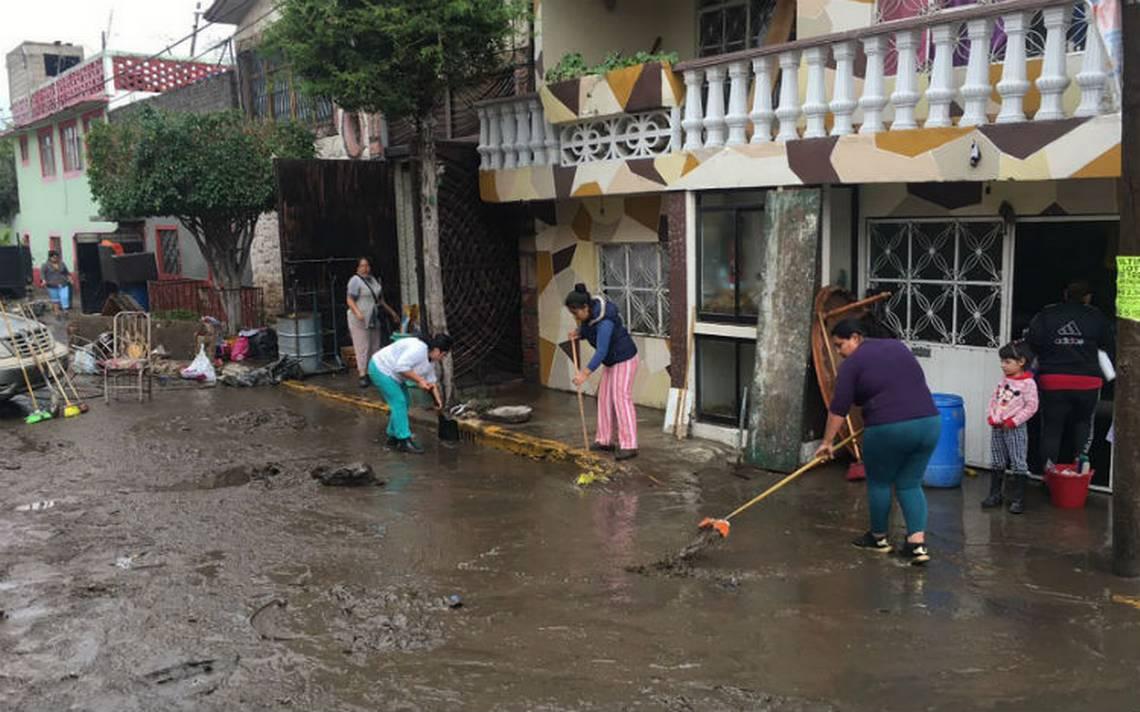 Desbordamiento del Río de los Remedios provoca afectaciones en Ecatepec